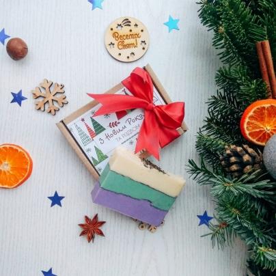 """Подарочная коробка с мылом """"Санта One"""""""